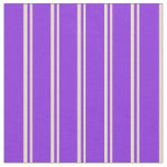 [ Thumbnail: Tan and Purple Lined/Striped Pattern Fabric ]