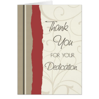 Tan and Red Employee Anniversary Card