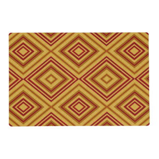 Tan and Red Pattern Place Mat