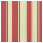[ Thumbnail: Tan and Red Striped Pattern Fabric ]