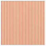 [ Thumbnail: Tan and Red Stripes Pattern Fabric ]