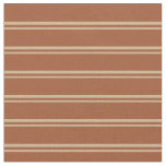[ Thumbnail: Tan and Sienna Colored Stripes Pattern Fabric ]