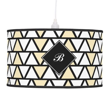 Aztec Themed Tan and White Aztec pattern Ceiling Lamp