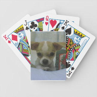 Tan and White Chihuahua Puppy Dog Playing Cards