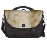 Tan and White Marble Laptop Commuter Bag