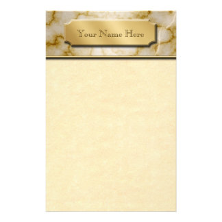 Tan and White Marble Stationery