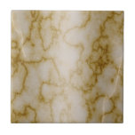 Tan and White Marble Tile