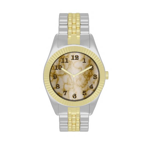 Tan and White Marble Watches