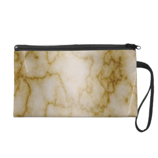 Tan and White Marble Wristlet Purse