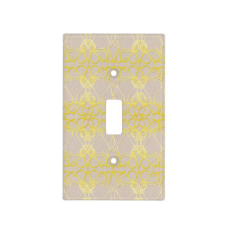 Tan and yellow light switch cover - Express New 6