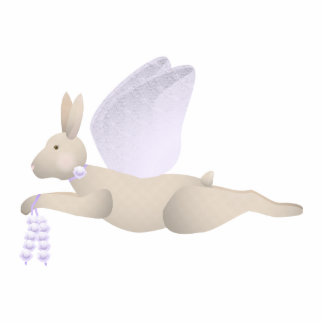 Tan Angel Rabbit With Purple Wings Photo Cutout
