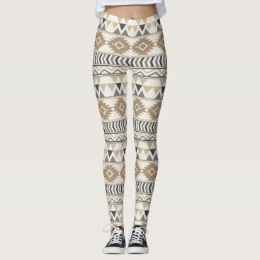 Aztec Themed Tan Aztec  Women's Leggings