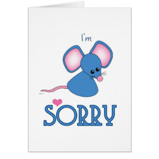 Tan azul triste sin usted ratón tarjeta de felicitación