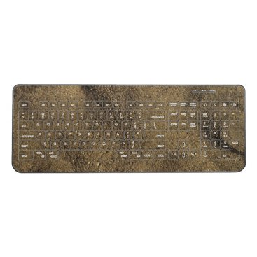 Beach Themed Tan Beach Sand Wireless Keyboard