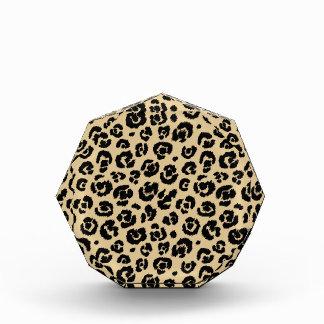 Tan Beige Black Leopard Print Award