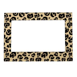 Tan Beige Black Leopard Print Magnetic Photo Frame