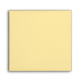 Tan Beige Square Scrollwork Monogram Envelopes