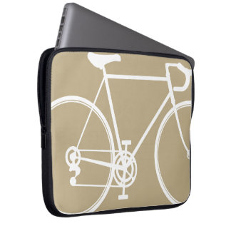 Tan bike design Laptop Sleeve