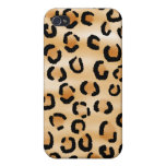 Tan, Black and Brown Leopard Pern. iPhone 4 Cases