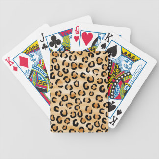 Tan, Black and Brown Leopard Print Pattern. Bicycle Playing Cards