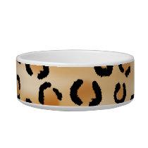 Tan, Black and Brown Leopard Print Pattern. Bowl