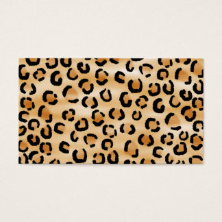 Tan, Black and Brown Leopard Print Pattern. Business Card