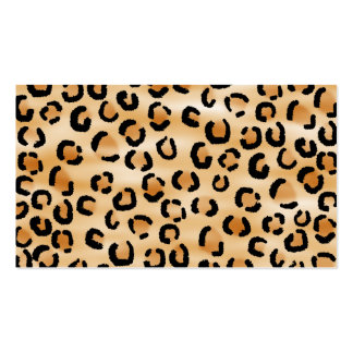 Tan, Black and Brown Leopard Print Pattern. Business Card Templates