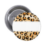 Tan, Black and Brown Leopard Print Pattern. Button