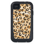 Tan, Black and Brown Leopard Print Pattern. iPhone4 Case
