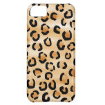 Tan, Black and Brown Leopard Print Pattern. iPhone 5C Cover