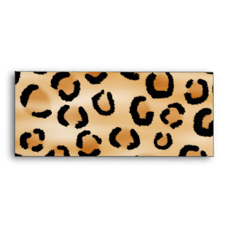Tan Black and Brown Leopard Print Pattern Envelope