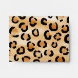 Tan, Black and Brown Leopard Print Pattern. Envelope
