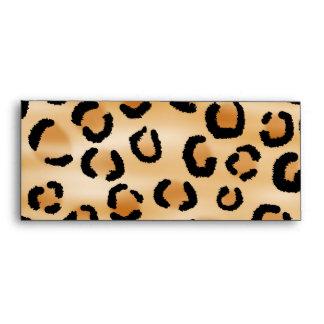 Tan, Black and Brown Leopard Print Pattern. Envelopes