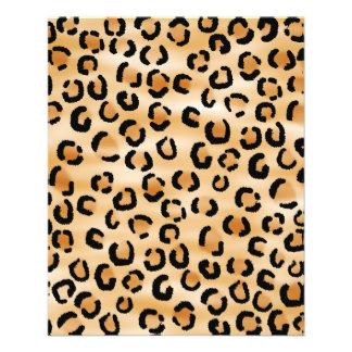 Tan, Black and Brown Leopard Print Pattern. Flyer