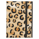 Tan, Black and Brown Leopard Print Pattern. iPad Cases