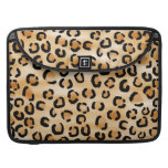Tan, Black and Brown Leopard Print Pattern. Sleeves For MacBook Pro