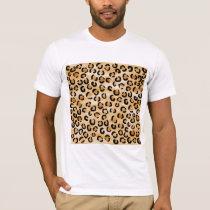 Tan, Black and Brown Leopard Print Pattern. T-Shirt