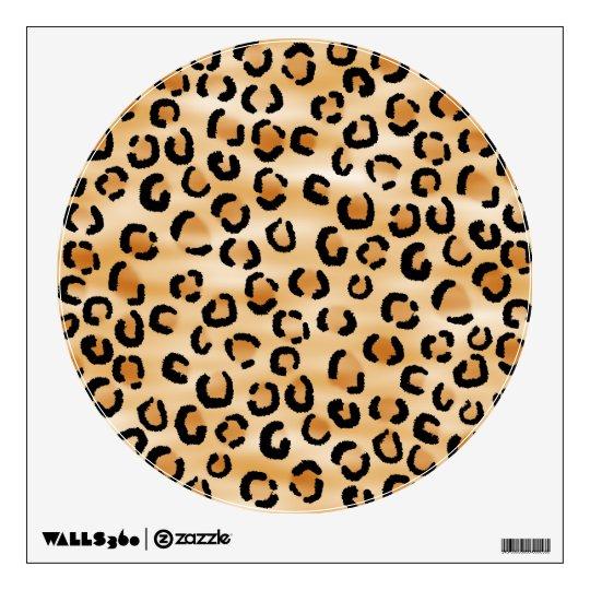 Tan, Black and Brown Leopard Print Pattern. Wall Sticker