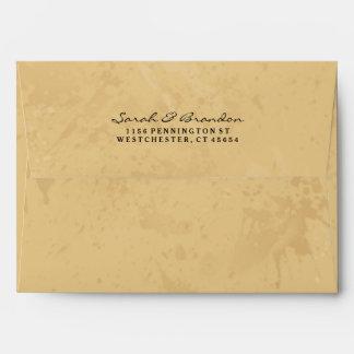 Tan & Black Custom Invitation Envelope