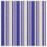 [ Thumbnail: Tan & Blue Colored Pattern Fabric ]