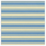 [ Thumbnail: Tan & Blue Lined Pattern Fabric ]