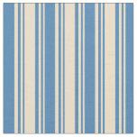 [ Thumbnail: Tan & Blue Striped/Lined Pattern Fabric ]