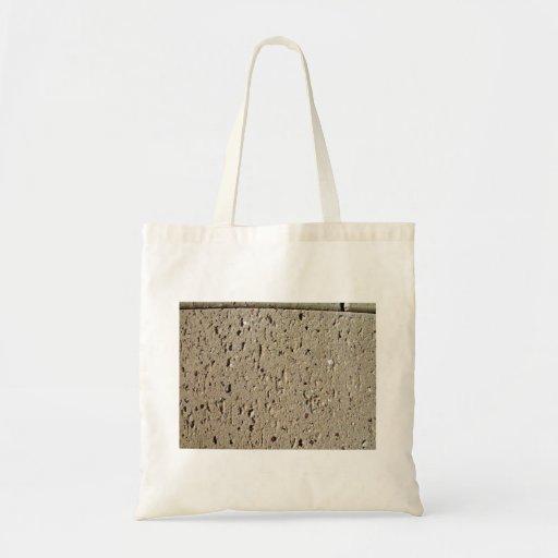 Tan Brick Texture Canvas Bag
