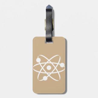 Tan Brown Atom Bag Tag