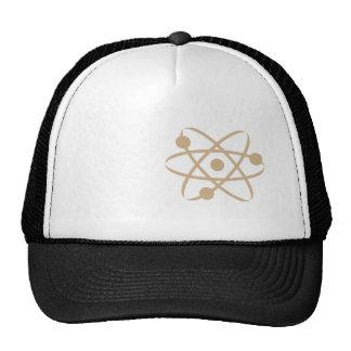 Tan Brown Atom Trucker Hat