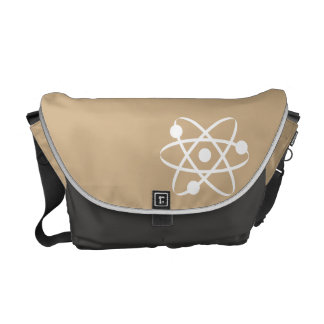 Tan Brown Atom Messenger Bag
