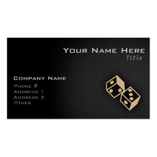 Tan Brown Dice Double-Sided Standard Business Cards (Pack Of 100)