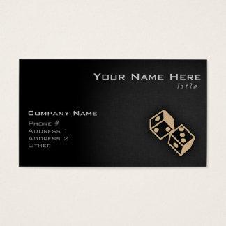 Tan Brown Dice Business Card