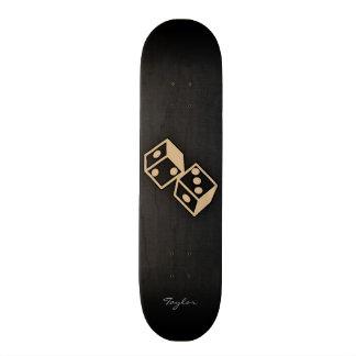 Tan Brown Dice Skateboard