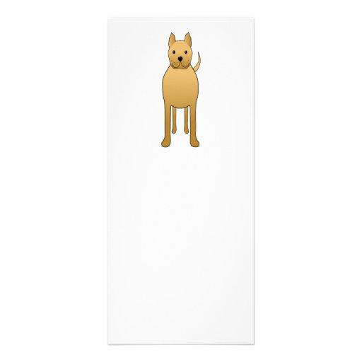 Tan Brown Dog. Cartoon. Rack Card